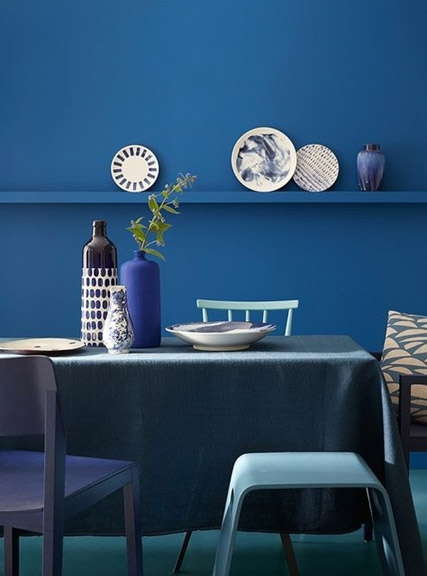 vase ceramice albastre mobilier modern